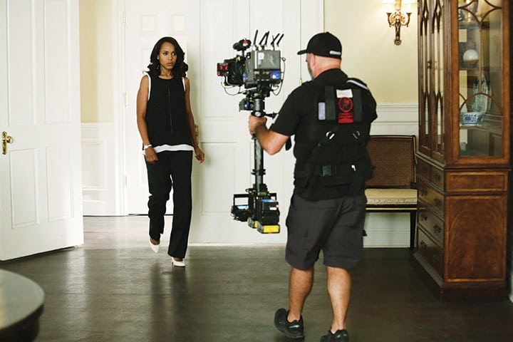 "Kerry Washington and Steven Fracol, SOC on set of SCANDAL - ""Paris is Burning"" - Olivia and Fitz face some very big consequences and Mellie brings in an old friend to make sure she gets her way. Meanwhile, Abby shows Olivia she is fully capable of handling working at the White House. Photo Credit: ABC/Nicole Wilder"
