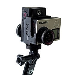 iZugar Z2XC twin GoPro rig w/ 194 degree Entaniya Lenses, Courtesy: iZugar